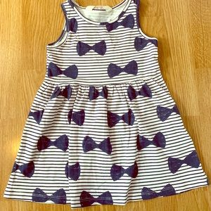 6e316b6006f Blue and white striped dress with blue bows